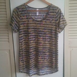 LuLaRoe Simply Comfortable Short Sleeve Top Sz M